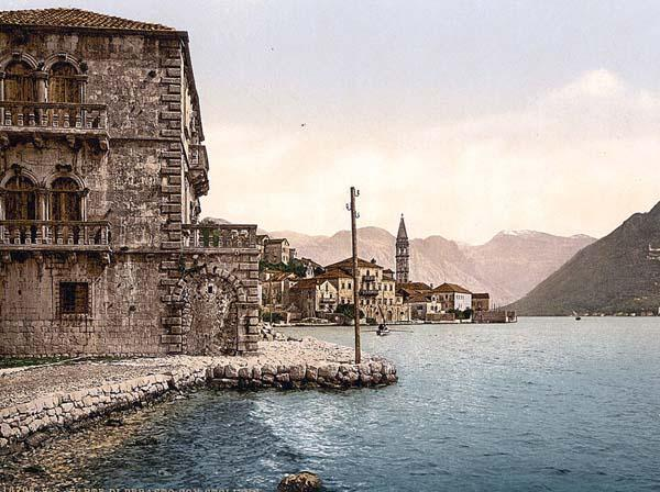 A postcard of Perast from the 1900s