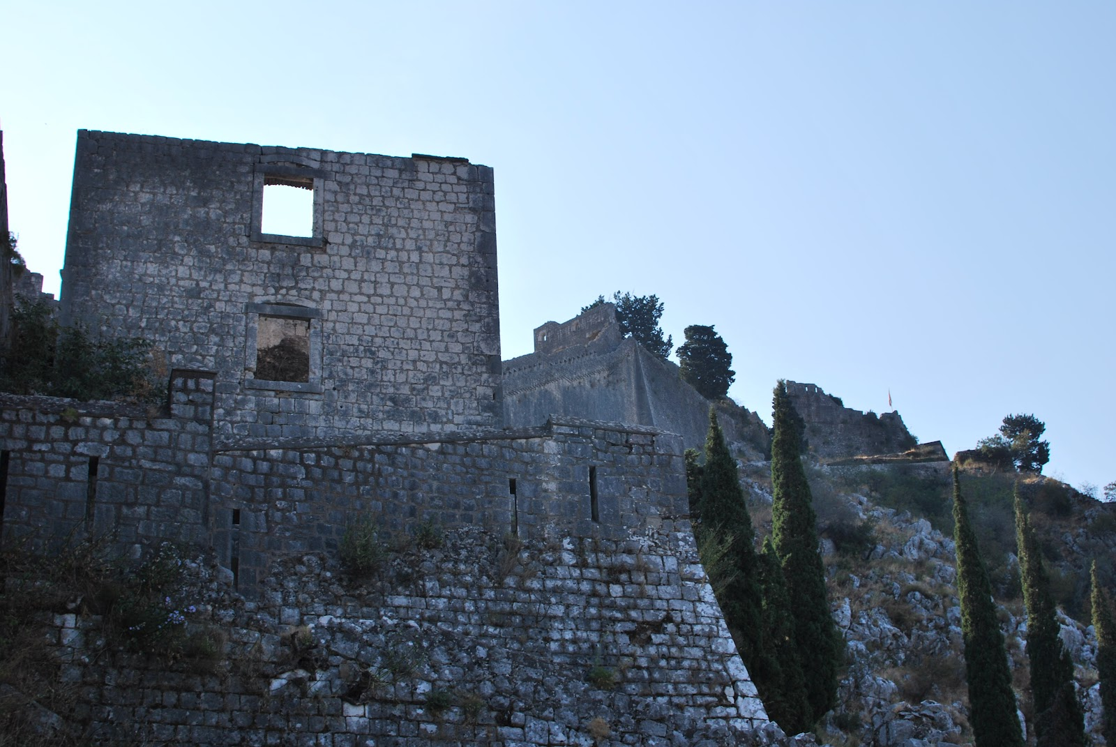 One of the many ruined Bastions that are built into the walls