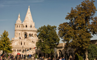 Fisherman's Bastion - we thought it looked like a sandcastle