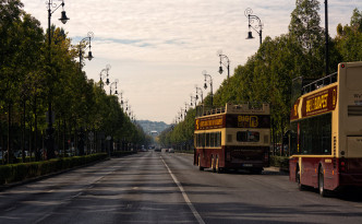 Andrassy Avenue from Heroes Square