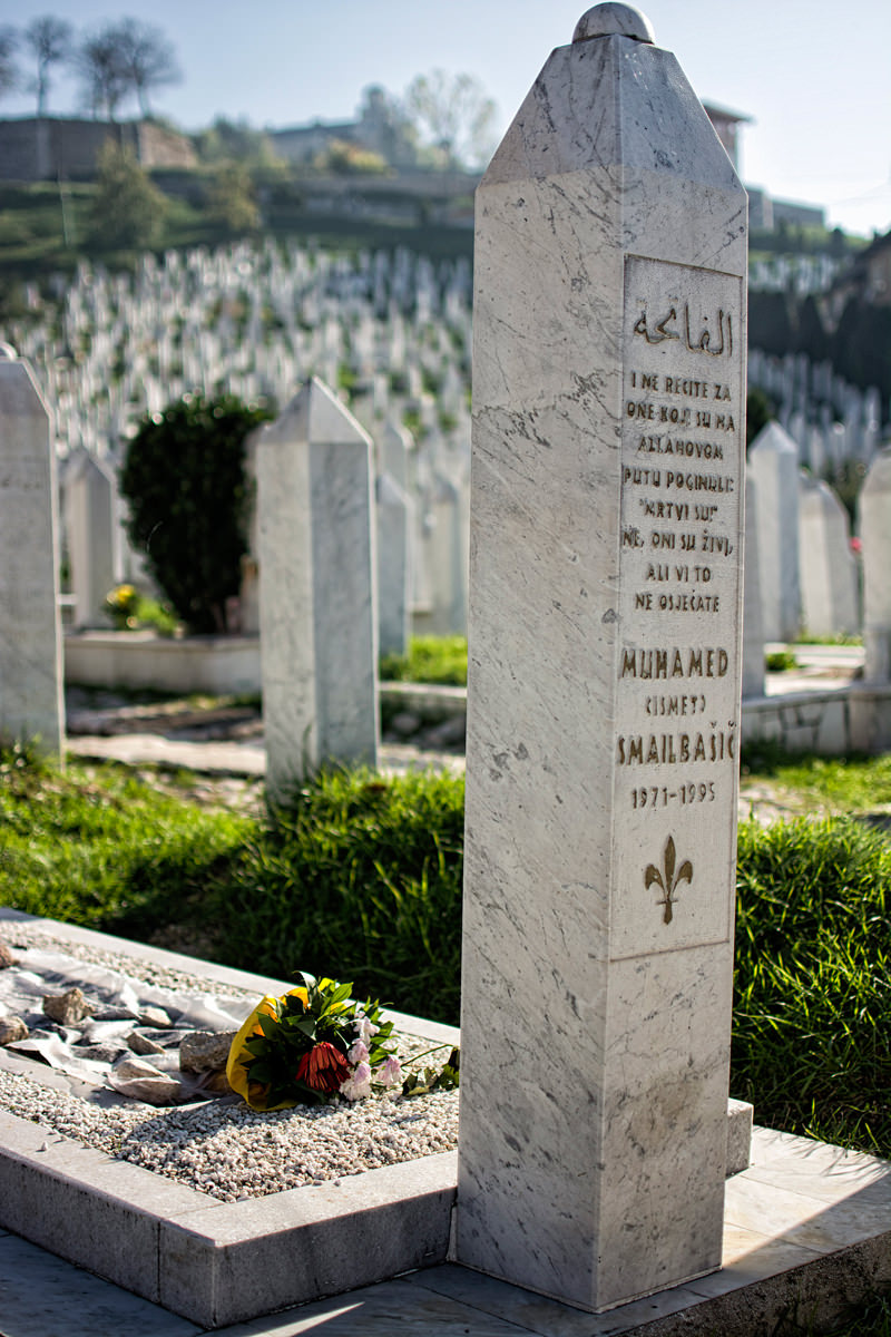 One of the cemeteries to the defenders of Sarajevo