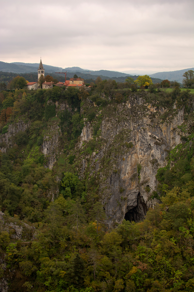 The view of the collapsed doline..the height is just smaller than the largest room in the caves
