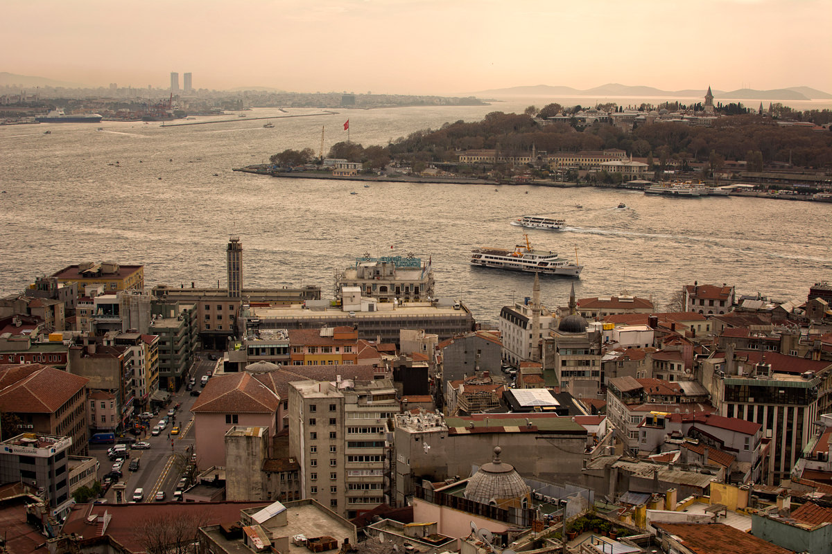 The view towards Sultanahmet from Galata Tower
