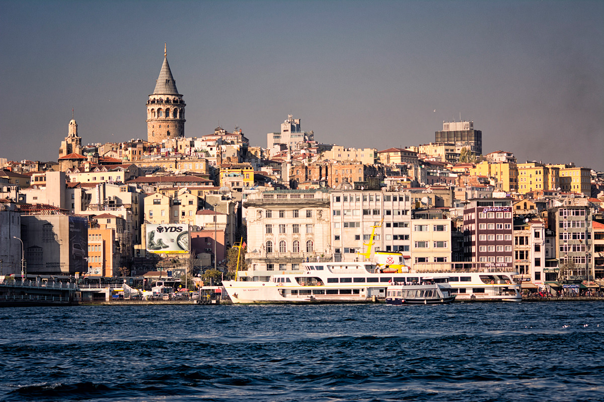 The view to Beyoglu from the water
