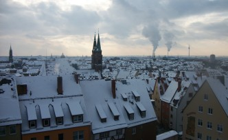 I would love to wake up to a fresh layer of snow in Nuremberg! (via)