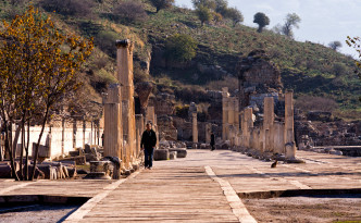 One of the many colonnaded streets at Ephesus