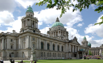 The amazing city hall in Belfast.