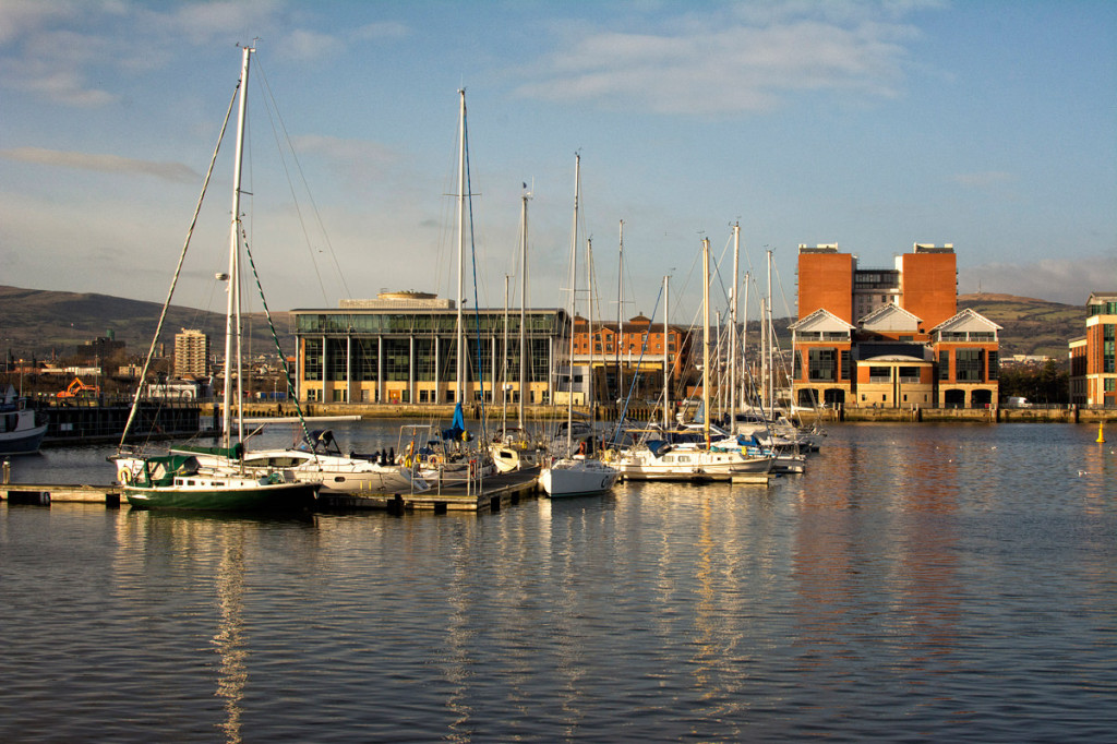 One of the many harbours along the River Lagan