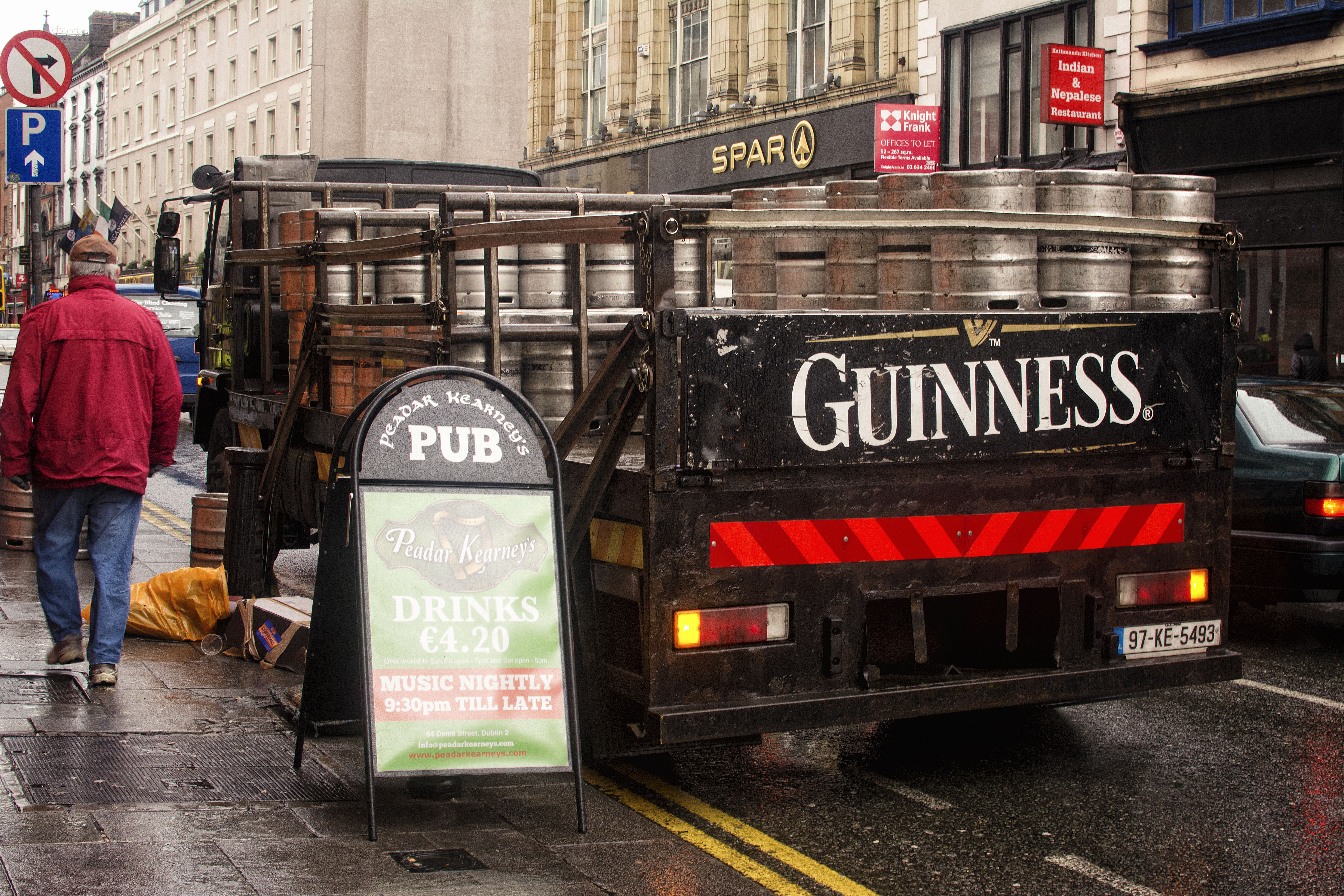 Guinness delivery truck