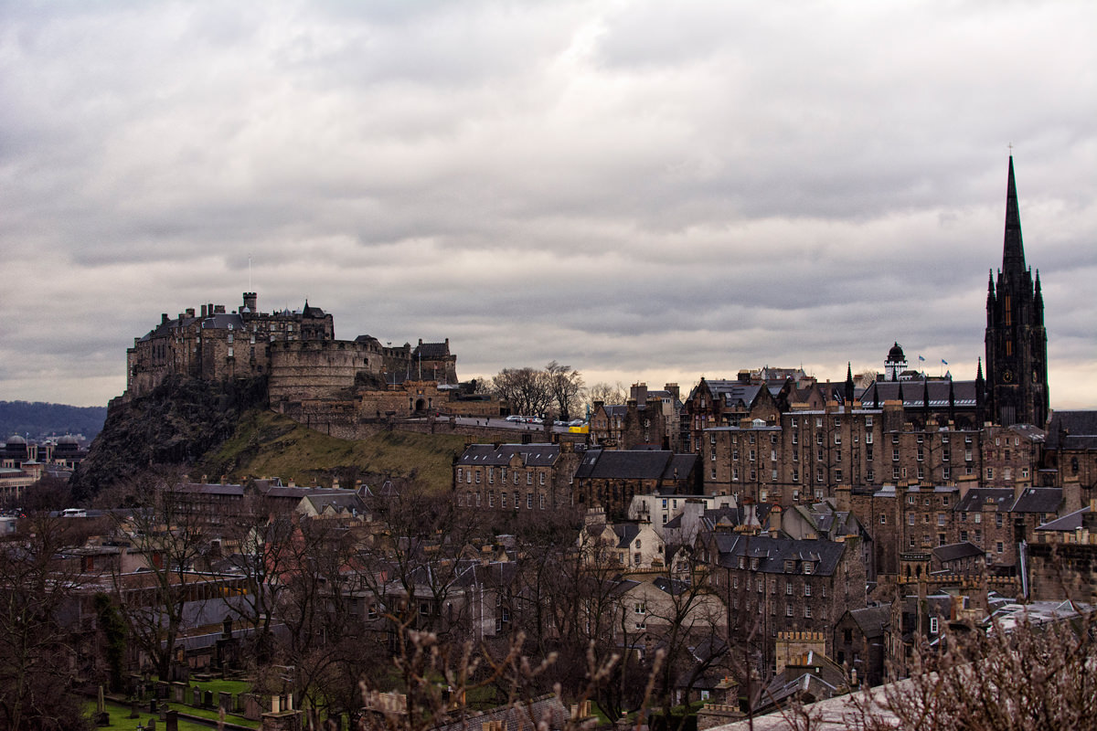 The classic stone architecture one would expect with Edinburgh Castle in the background