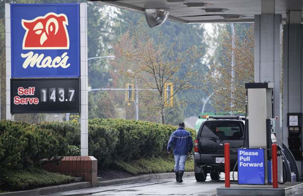 Vancouver's gas prices are reportedly the highest in Canada